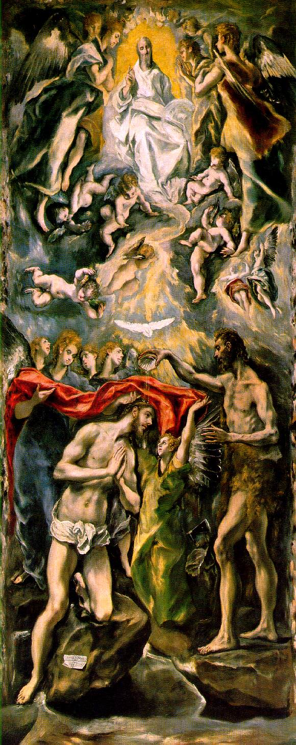 el Greco's Baptism of Christ