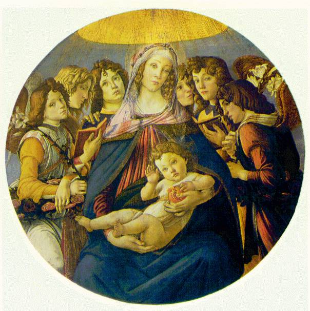 Botticelli's Madonna of The Pomegranate