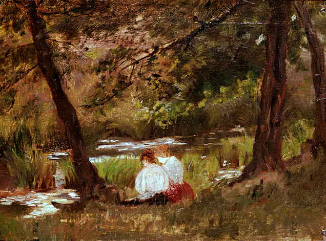 Mary Cassatt's Two Women By A Stream