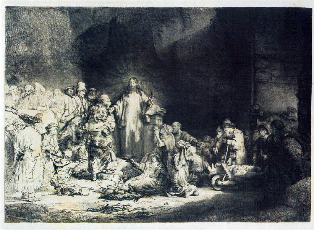 Rembrandt's The Little Children Being Brought To Jesus