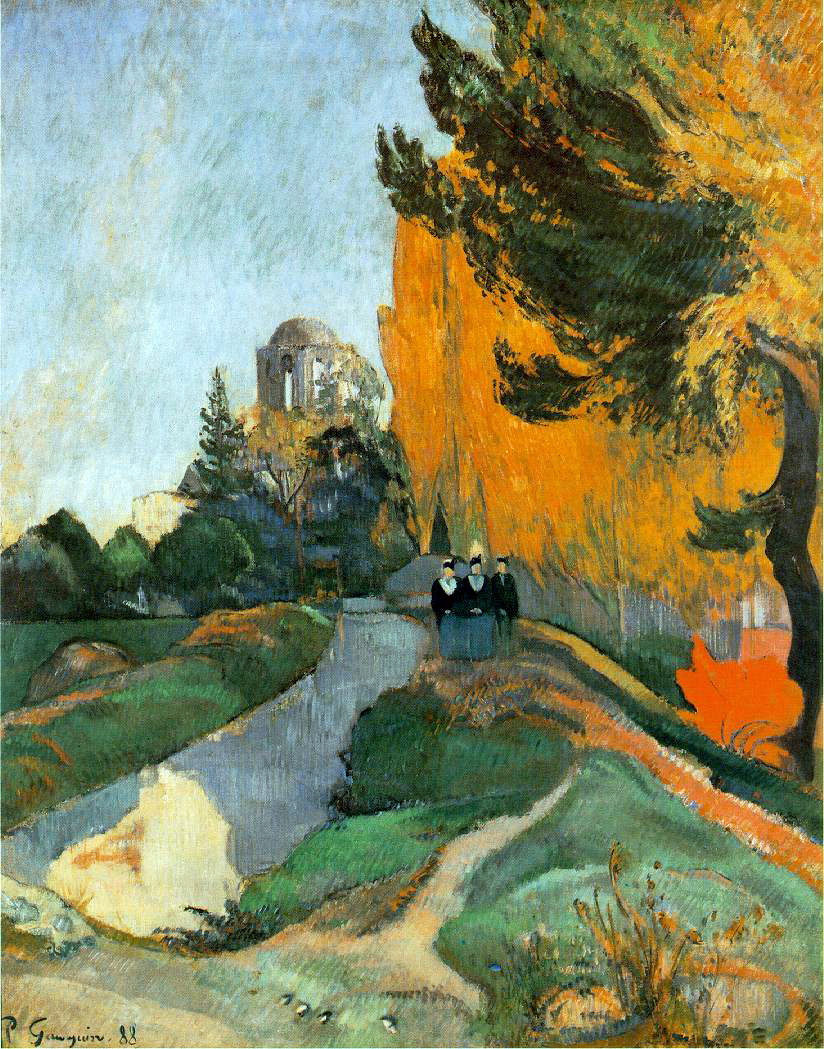 Gauguin's Les Alyscamps, Arles