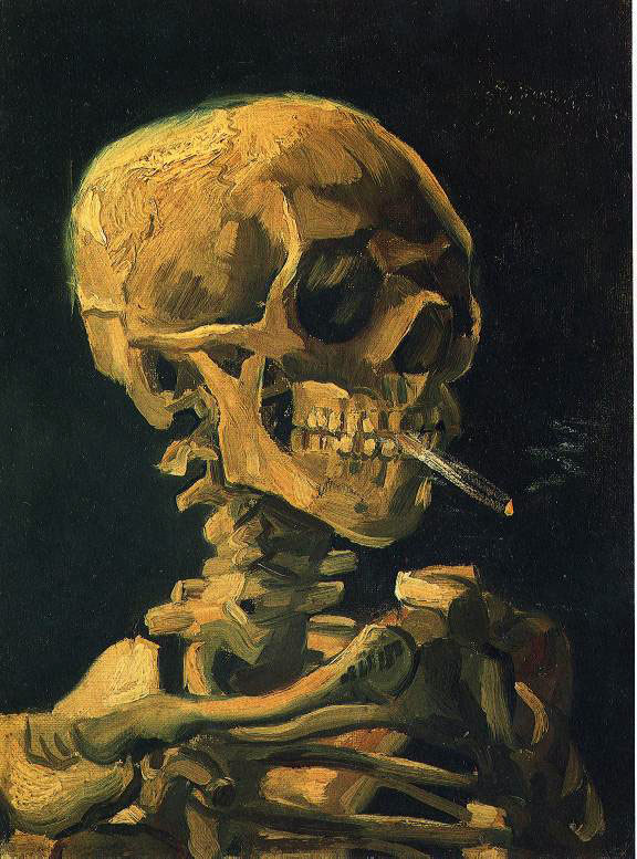 van Gogh's Skull With Cigarette
