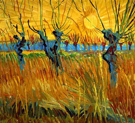 van Gogh's Pollard Willows With Setting Sun