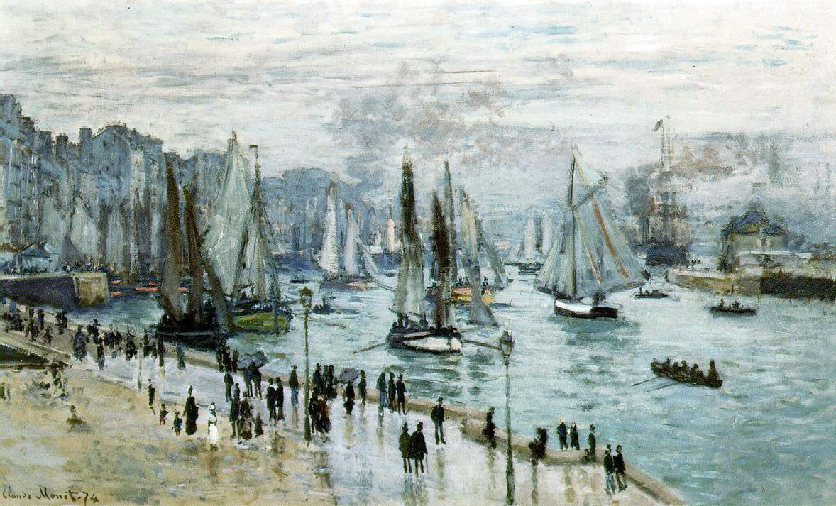 Monet's Fishing Boats Leaving The Harbor, Le Havre