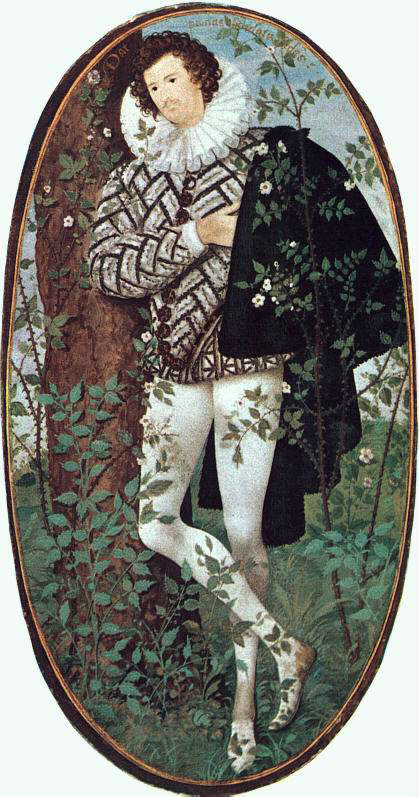 Hilliard's A Youth Leaning Against A Tree Among Roses