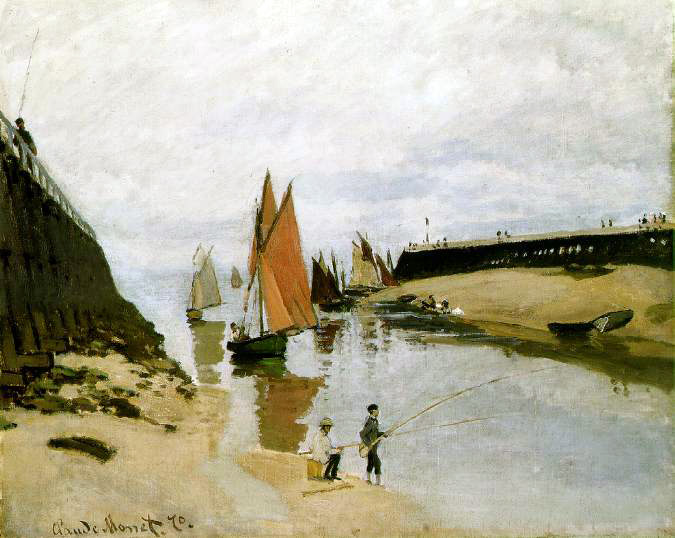 Monet's Breakwater At Trouville