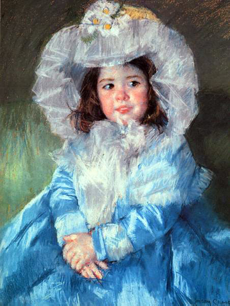 Cassatt's Margot In Blue