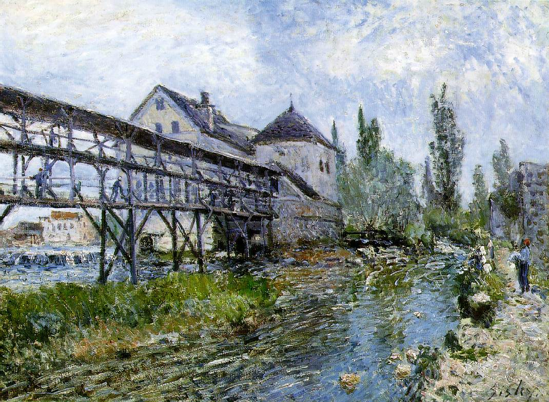 Sisley's Provencher's Mill At Moret