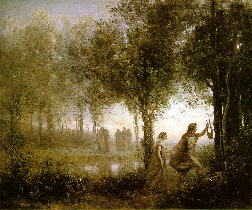 Camille Corot's Orpheus Leading Eurydice Out of Hell