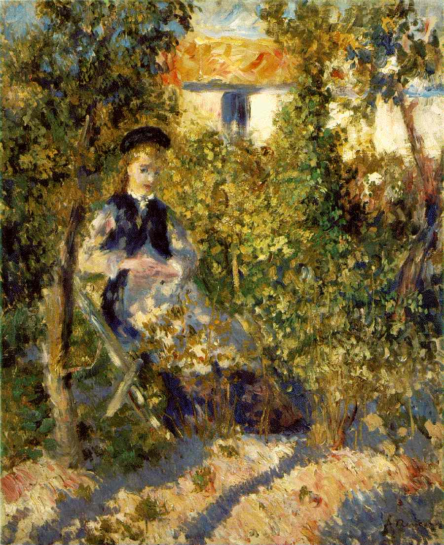 Renoir's Nini In The Garden