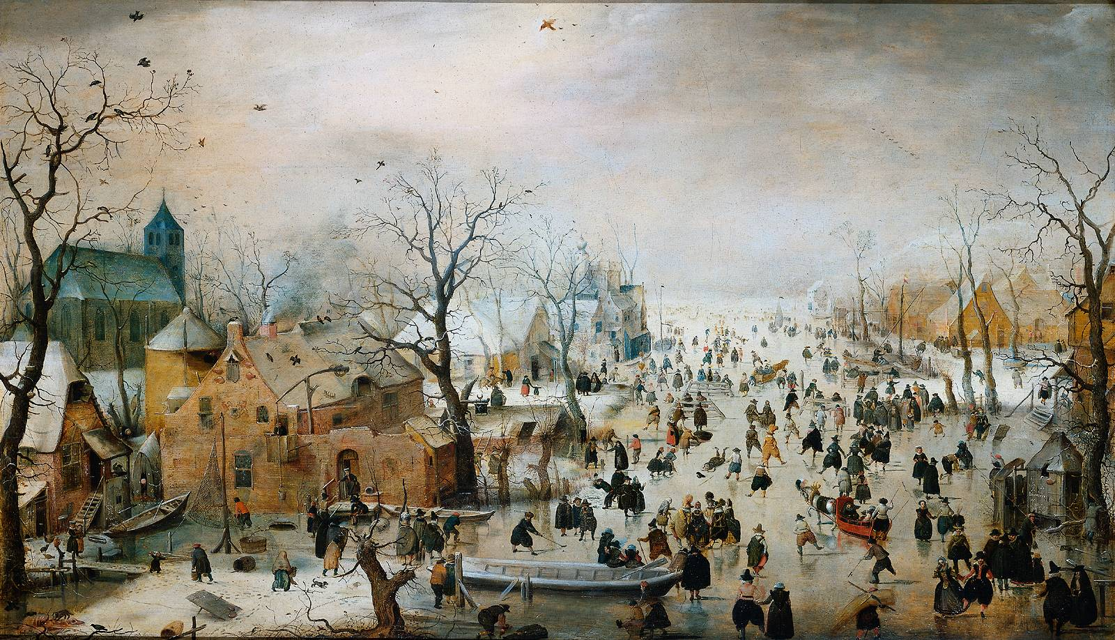 Avercamp's Winter Landscape With Iceskaters