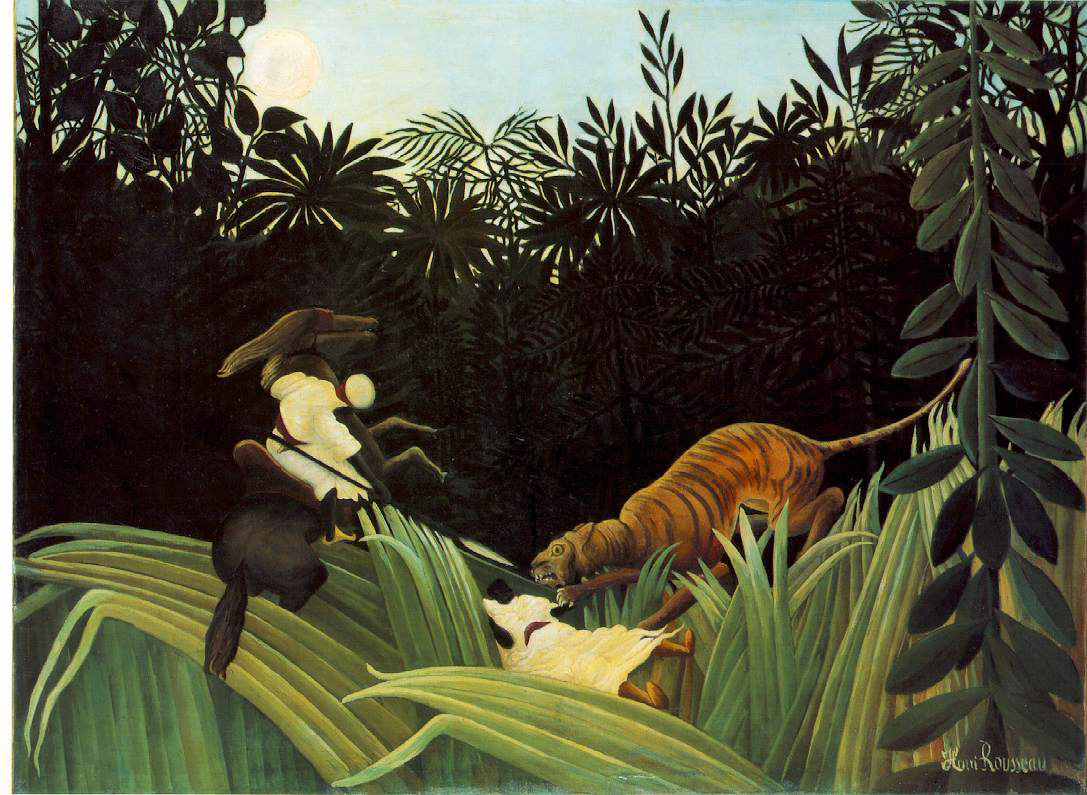 Rousseau's Scout Attacked By A Tiger