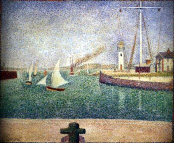 Seurat's Entrance To The Port of Honfleur