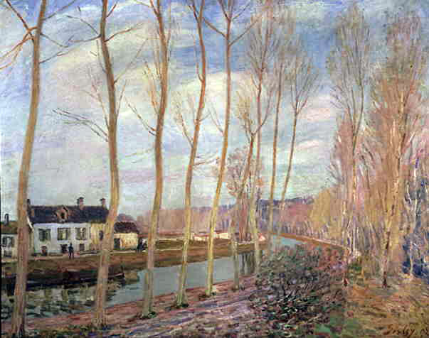 Sisley's Canal of Loing At Moret