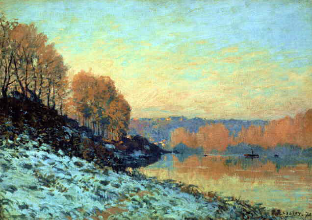 Sisley's The Seine At Bougival In Winter