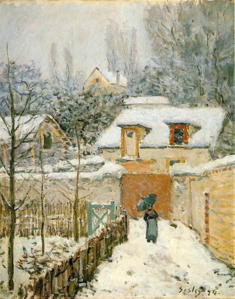 Sisley's Snow at Louveciennes