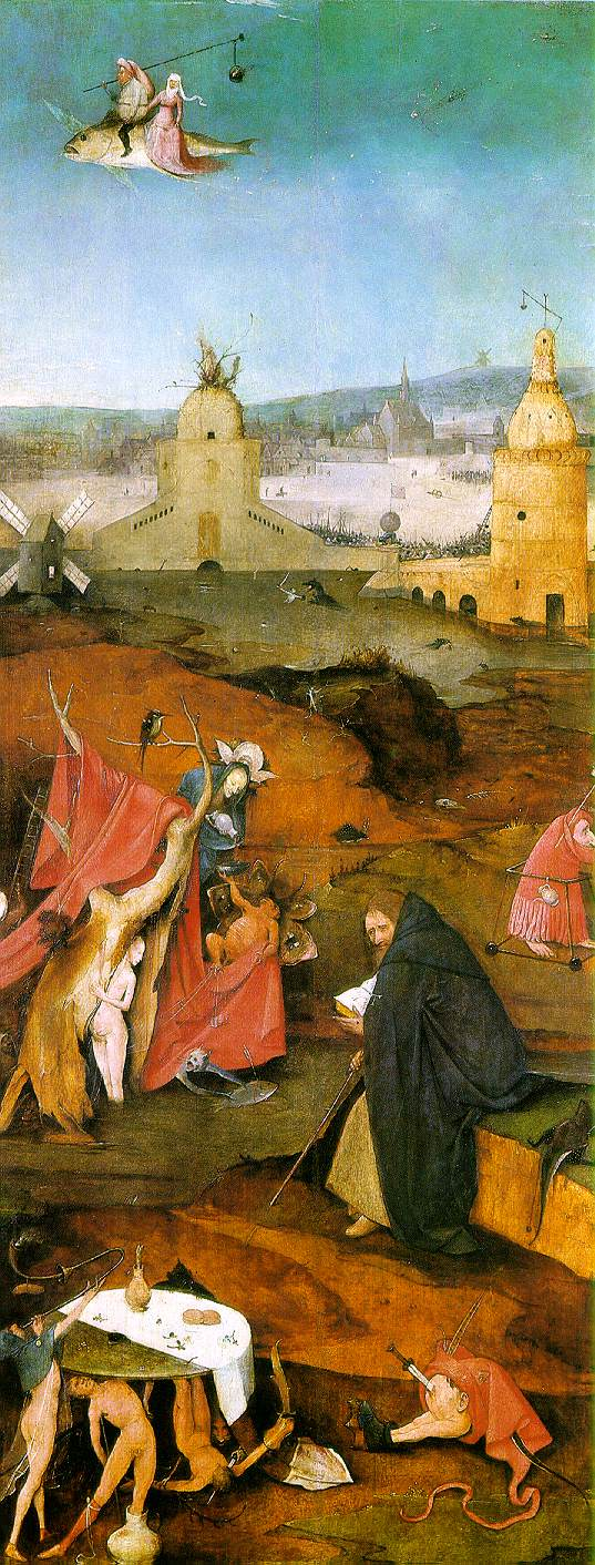 Bosch's Temptation of St. Anthony (detail, right wing)