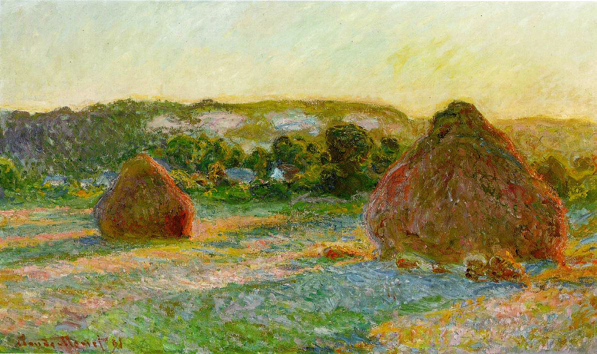 Monet's Wheat Stacks (End of Summer)